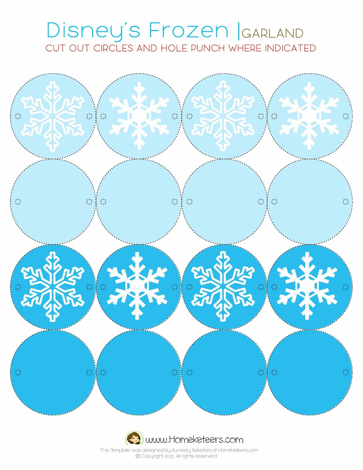Frozen Birthday Party Cake Toppers