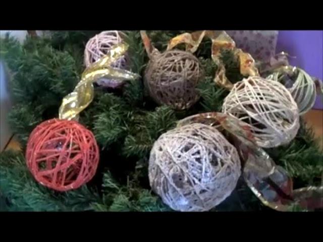 DIY Χριστουγεννιάτικες μπάλες απο σπάγκο