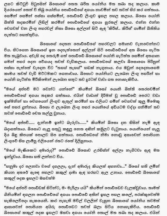 Donate Car For Tax Credit >> Sinhala Wela Katha: Biso - බිසෝ