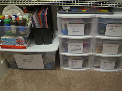 Small Space Homeschooling-ideas for organizing learning spaces when space is limited