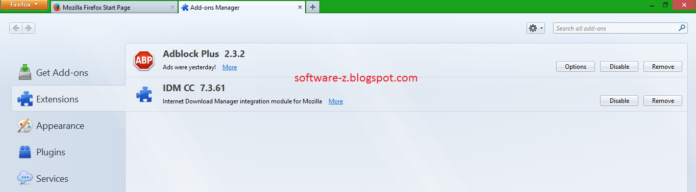 Add Ons IDM CC 7.3.61 for Mozilla Firefox 24, 25, 26 and ...