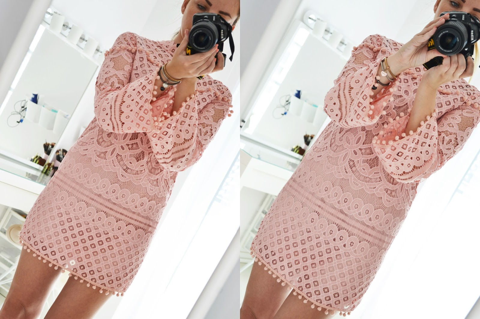 SHEIN - LACE DRESS // TROPICAL KIMONO