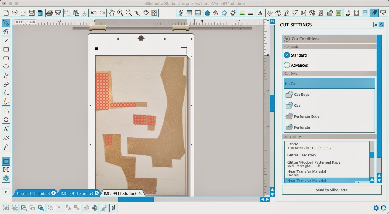 Silhouette Pixscan, Pixscan tutorial, scraps, polka dots