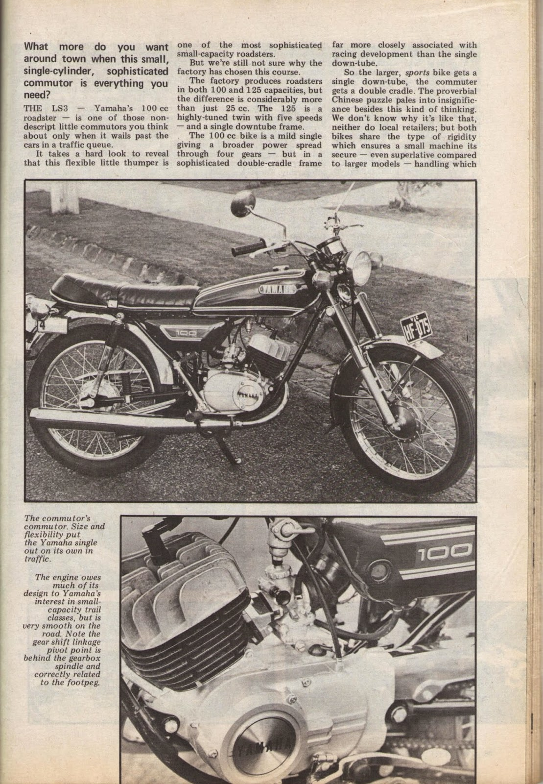 """Yamaha 100 LS3 in """"Two wheels"""" edition ..."""