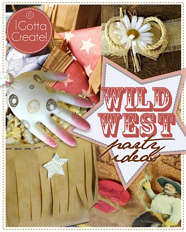 Love these Wild West party theme ideas at I Gotta Create!