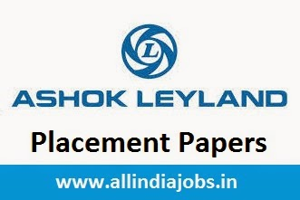 Ashok Leyland Placement Papers