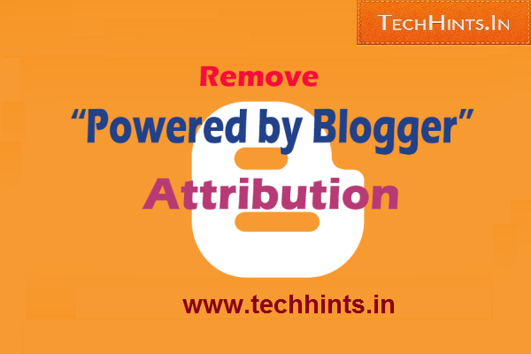 "Remove "" Powered by Blogger """