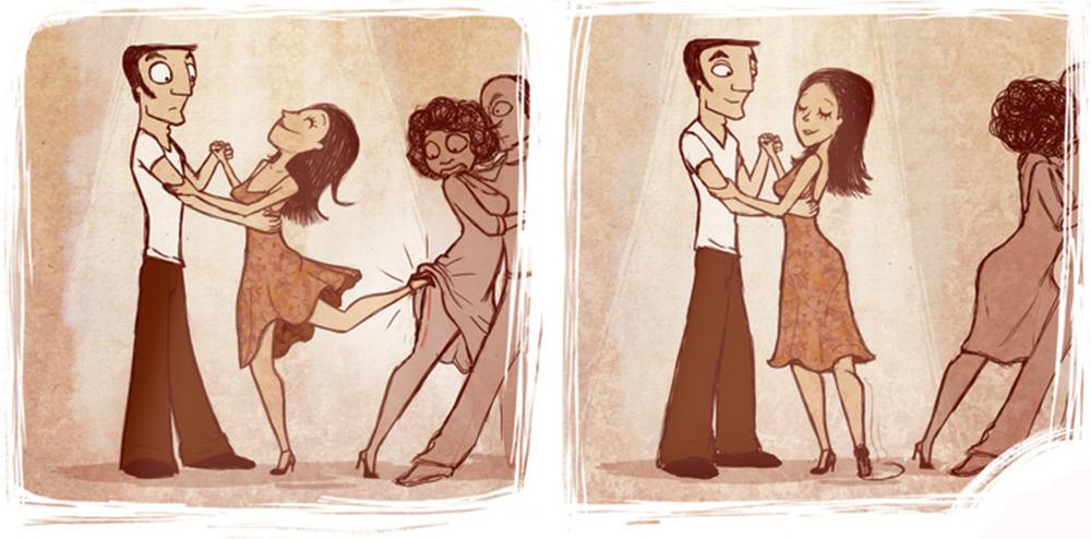 Танго смешные картинки