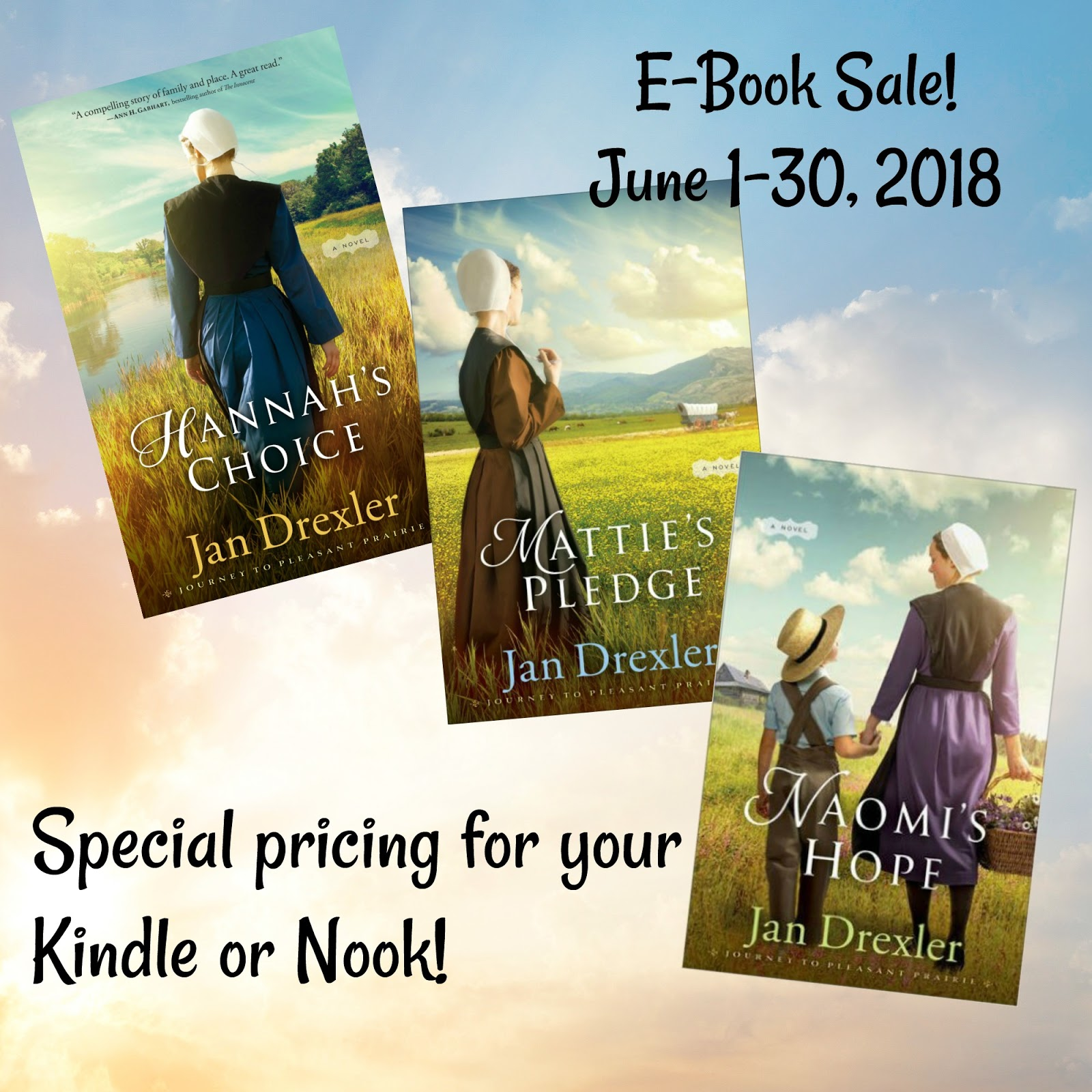 Jan Drexler's The Journey to Pleasant Prairie series from Revell is still  on sale in E-book format! How long will the sale prices last?