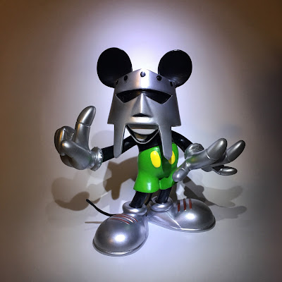 "MF Doom x Mickey Mouse Mash-Up ""MM DOOM"" Resin Figure by Lightsleepers"