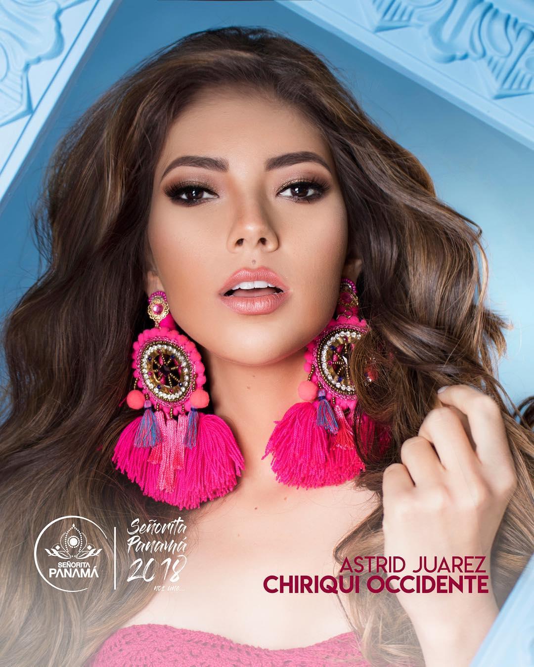 señorita miss colombia 2018 candidates candidatas contestants delegates Miss Chiriquí Occidente Astrid Juárez
