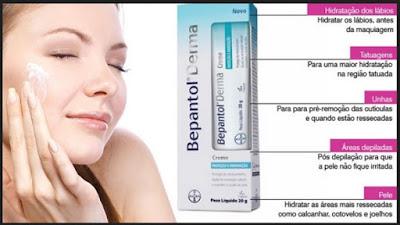 utilidades e beneficios do Bepantol para a pele, cabelos e unhas