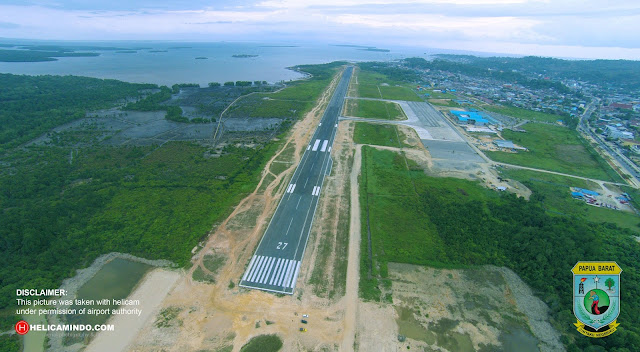 Bandara Domine Edward Sorong di foto dengan drone (papua barat)