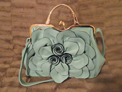 AVBER Womens Fashion Faux Leather Floral Handbag & Crossbody Bag Purse