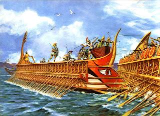 antiche navi greche, ricerca per la scuola scritta facile