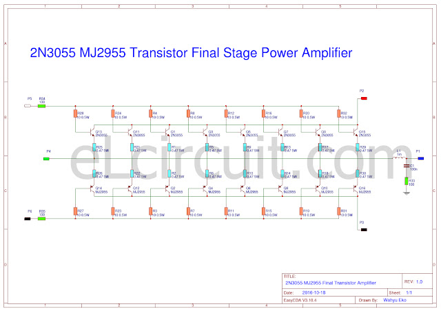 2N3055 and MJ2955 about adding 8 set transistor