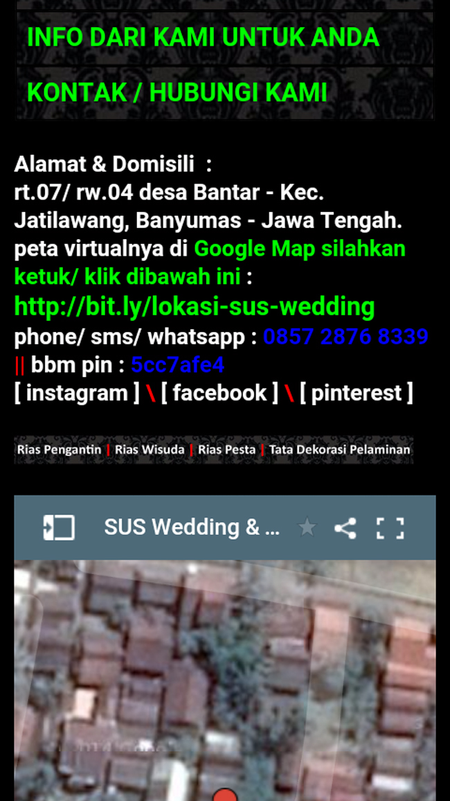 SUS Wedding - Rias Pengantin Purwokerto & Dekorasi Purwokerto | suswedding.situsweb.biz | bit.ly/sus-wedding