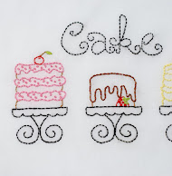 Cakes from Cake embroidery pattern packet
