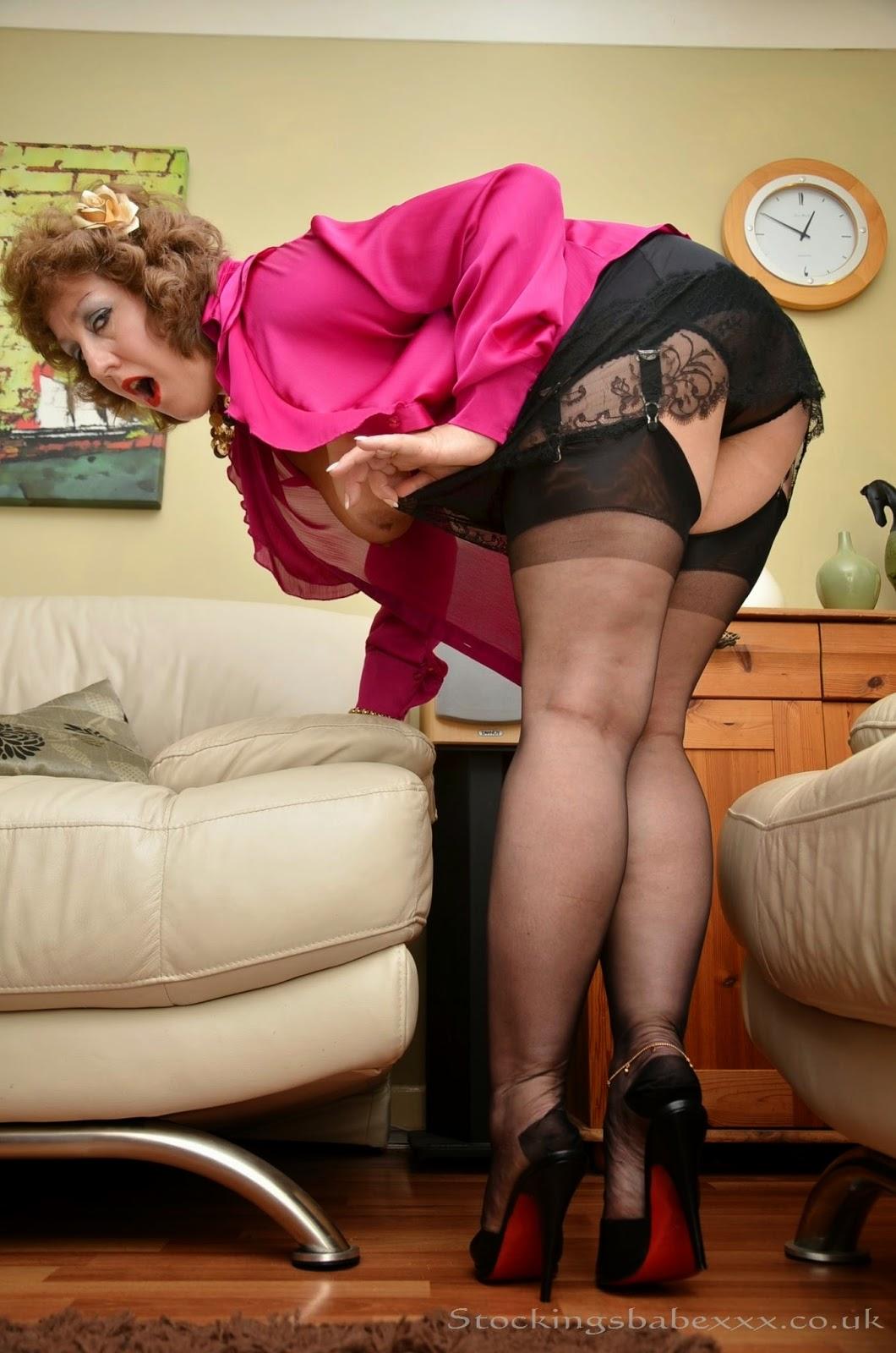 Julie skyhigh MONCLER fetish and fur & stockings