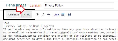 Cara Membuat Privacy online Policy Untuk Blog atau Website