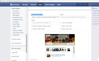 plugin Alt dan Title Widget fanspage facebook