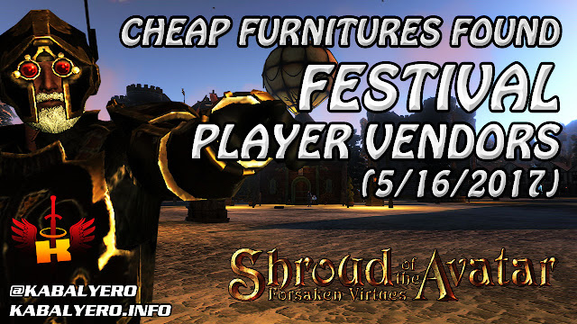 Festival Player Owned Town, Cheap Furnitures Found (5/16/2017)