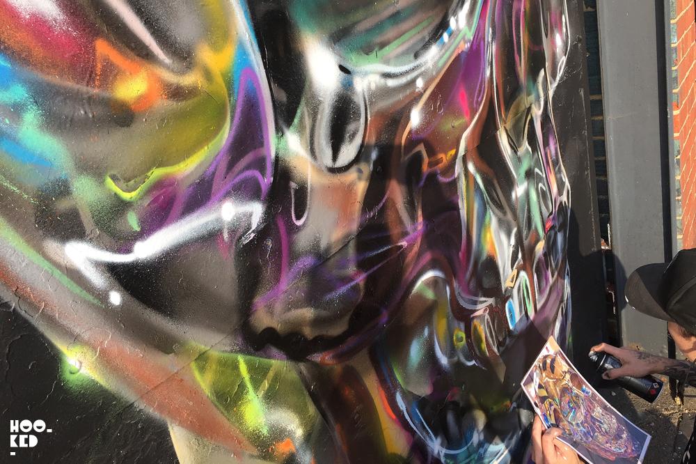 Fanakapan, Street Art Skull Mural in East London. Photo ©Mark Rigney / Hookedblog