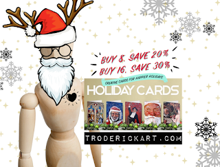 holiday greeting card by tom roderick art