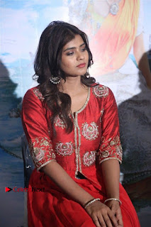 Actress Heba Patel Latest Stills in Red Dress at Mister Movie Trailer Launch Event  0014.jpg