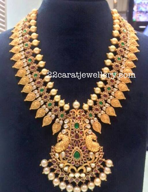 Kasu Necklace with Kempu