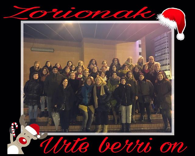 felicitación navideñas de los trabajadores de La Milagrosa