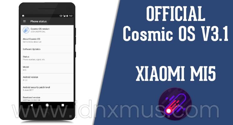 ROM Cosmic OS V3.1  MI5 Gemini