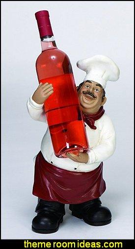 Chef Bottle Holder a Designer Class Wine Holder