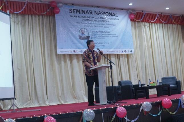 SEMINAR NASIONAL 2018 TEKNIK INFORMATIKA POLITEKNIK POS INDONESIA