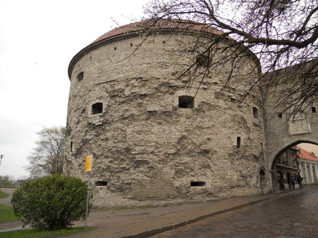 Tallinn's Fat Margaret Tower in the Rain