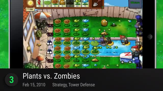 TOP 25 FREE iOS GAMES OF ALL TIME 3. Plants vs. Zombies