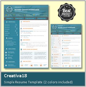 Contoh CV Simpel dan Menarik