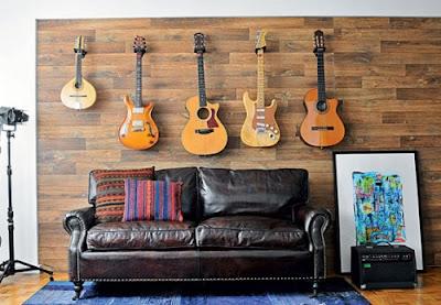 Decoración para los amantes de la música. Decorar con guitarras
