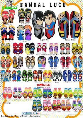 Brosur Sandal Sancu, gambar sandal sancu, model sandal sancu