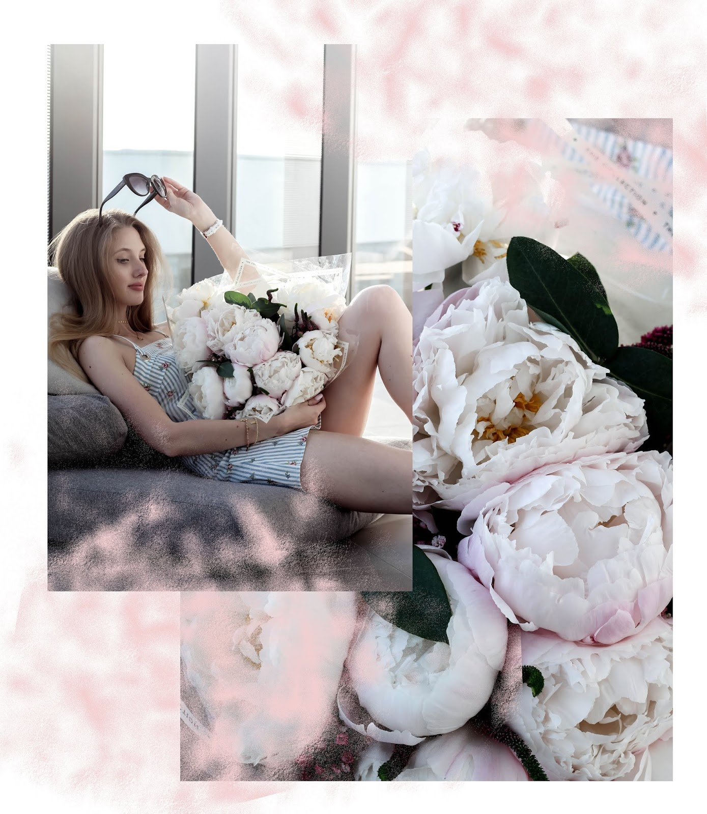 Pretty Summer Blog Collage Flowers and Fashion