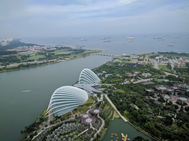 View from the top of Marina Bay Sands Hotel