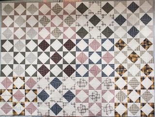 Center of Half Square Triangle Quilt