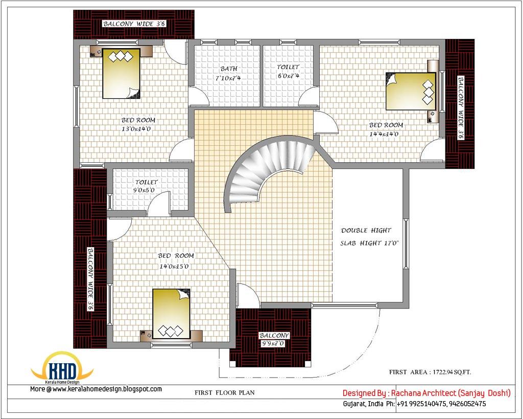 Modern Plan House Plans Designs Floor Uk Attractive Open Design 3D