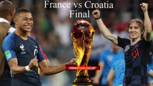 Prediksi Bola Prancis vs Kroasia Final Piala Dunia 2018