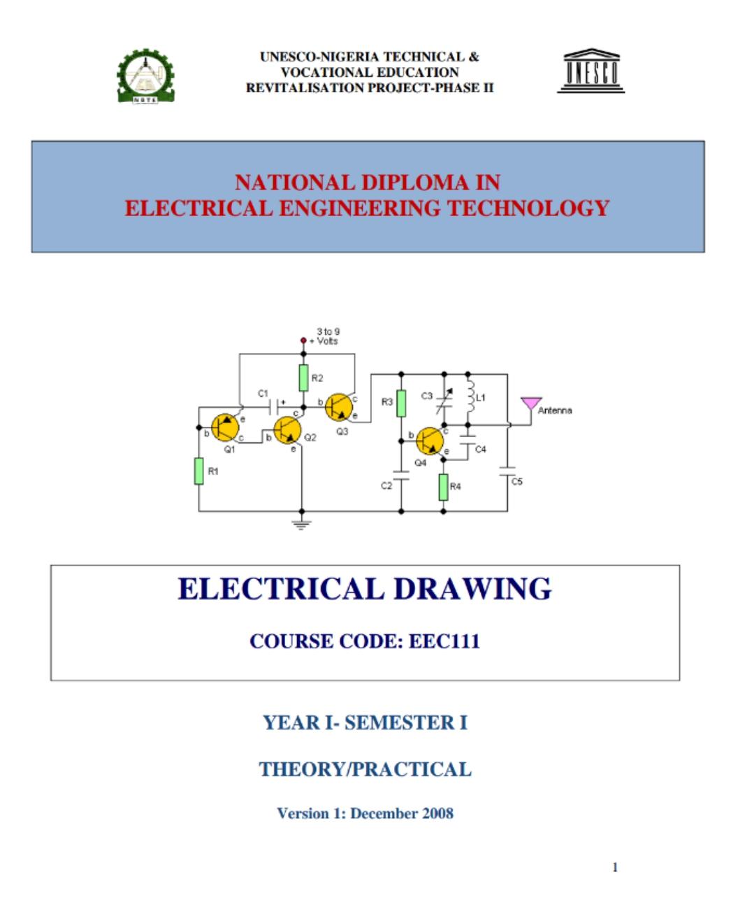 HARRY\'S BLOG: EEC 111 ELECTRICAL DRAWINGS