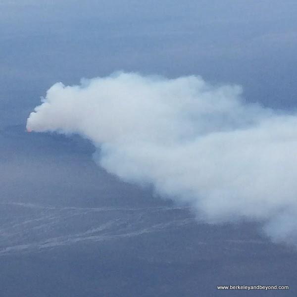 Bardarbunga volcano erupting in 2014 in Iceland