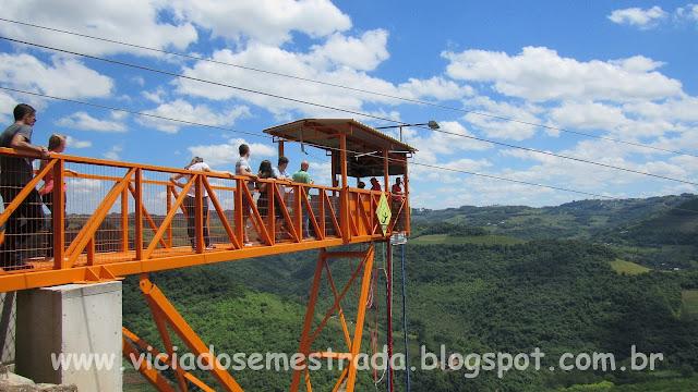 Plataforma de Bungee Jump, Parque de Aventuras Gasper