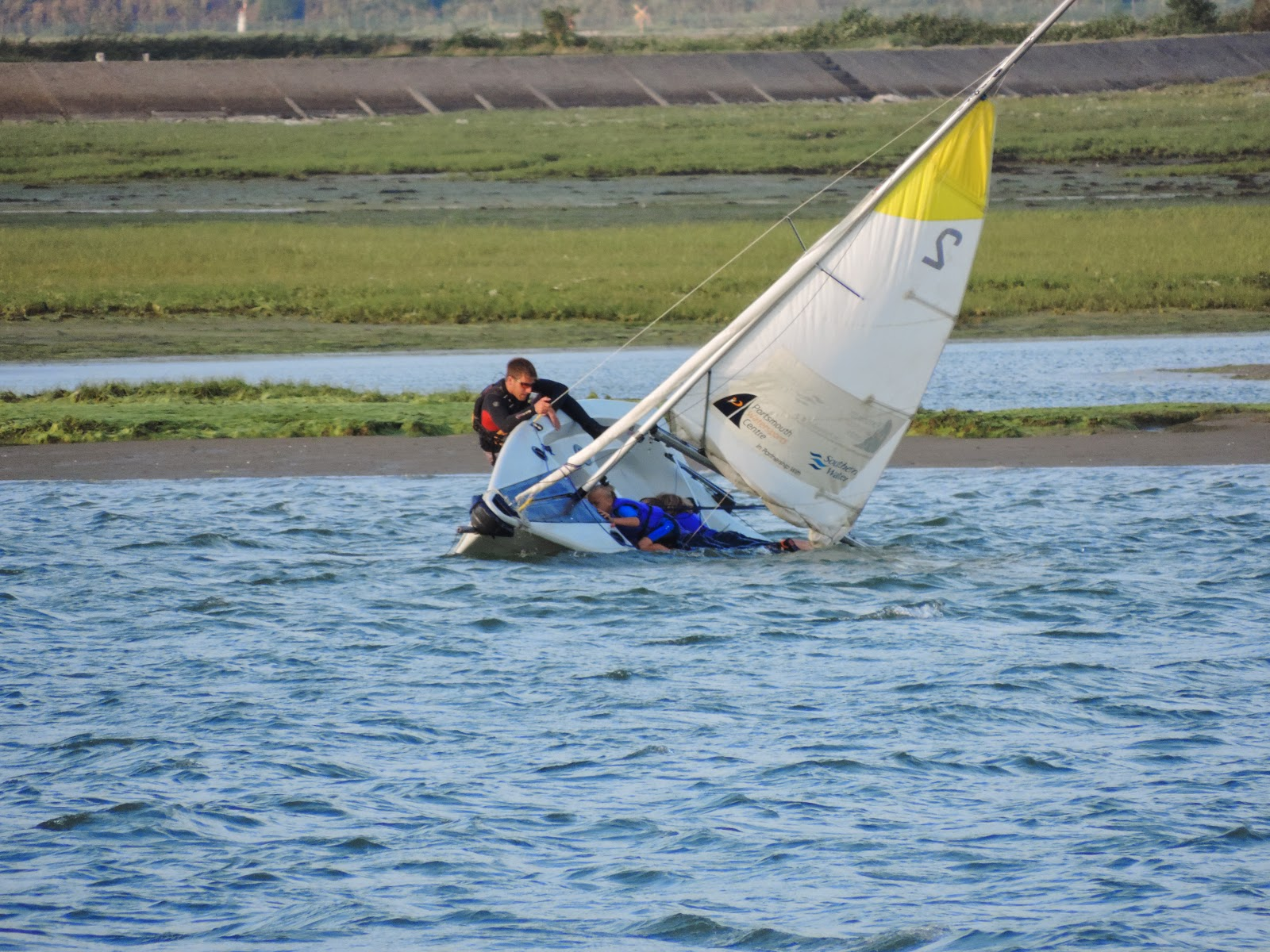 portsmouth watersports inboard boating training capsized boat