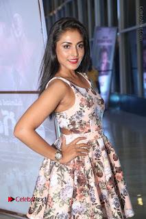 Actress Madhu Shalini Stills in Floral Short Dress at RGV Shiva to Vangaveeti Event  0046.JPG
