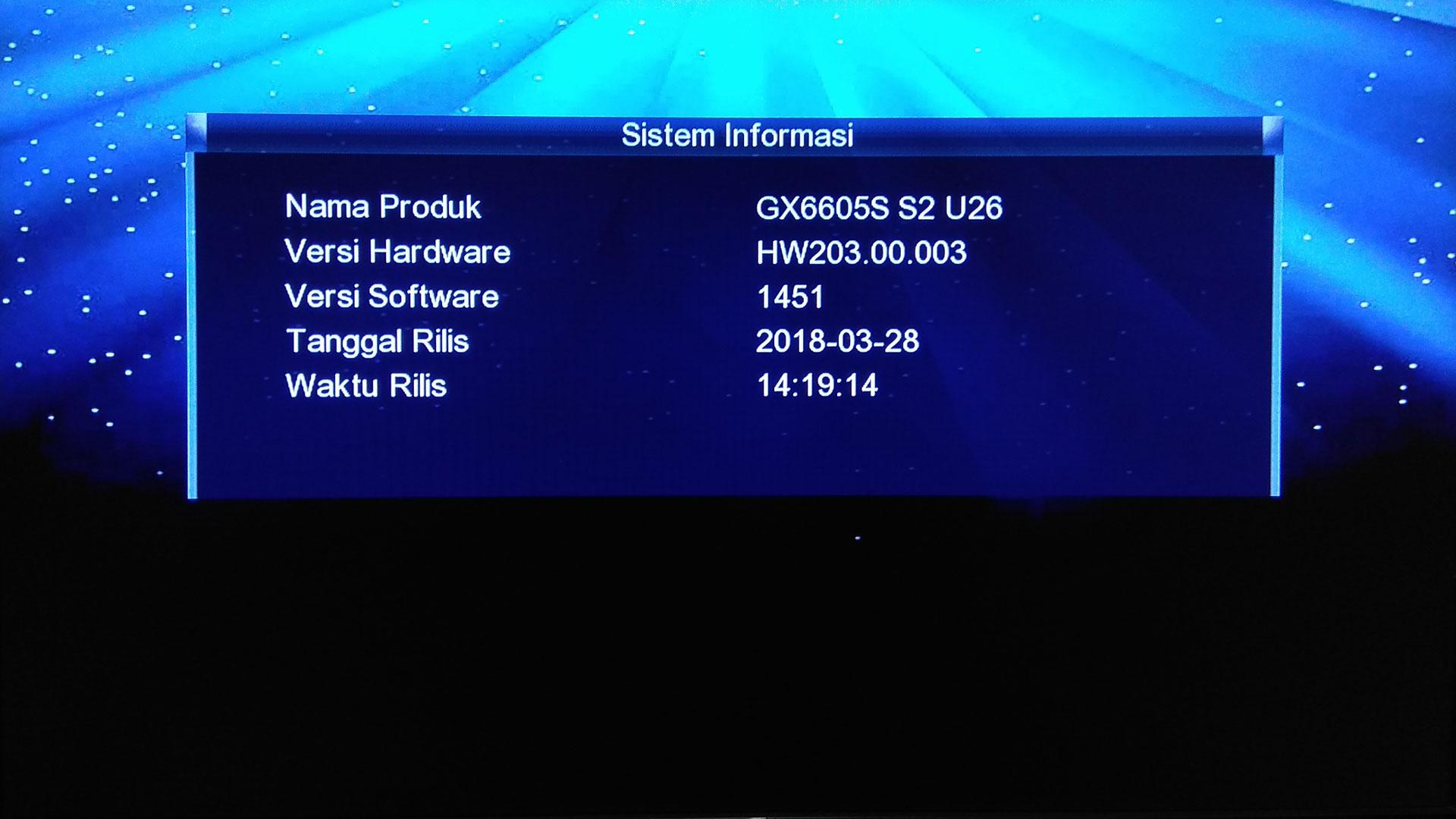 SW Lgsat Bigbang Guoxin HD GX6605S Firmware Terbaru